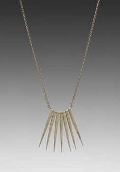 Dream Collective Quills Necklace in Brass