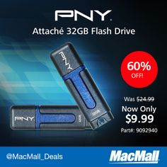 Save $15 on an #PNY 32GB USB 2.0 drive.