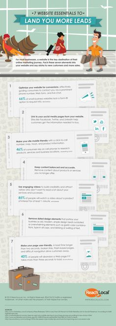 7 Ways To Get More Leads to Website #Infographic