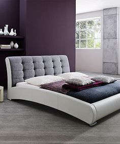 Look what I found on #zulily! Guerin Contemporary Faux Leather Upholstered Platform Bed by Baxton Studio #zulilyfinds
