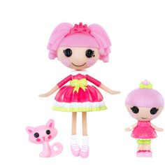 Mini Lalaloopsy Jewel Sparkles and Mini Lalaloopsy Littles Trinket Sparkles Dolls with Pet