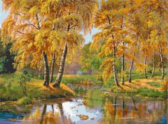 Cross stitch Pattern only  Autumn in the forest by CottonMystery, $7.50