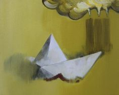 Boat II - Kunstner, Kunstmaler, Marck Fink, Maleri, Kubisme, Grafisk, Surrealisme, : www.artunika.dk / www.artunika.com Boat II - 30 x 24 cm. Et maleri af Marck Fink...