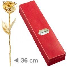 Rosa naturale placcata oro con cofanetto personalizzato