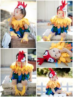 Heihei from Moana Costume #costume #heihei #moana #costumeforkids #cutecostume #hotglue #onesies #felt #halloweencostumes #halloween