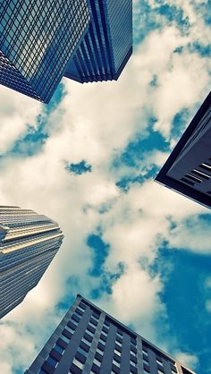 City sky #iPhone #5s #Wallpaper