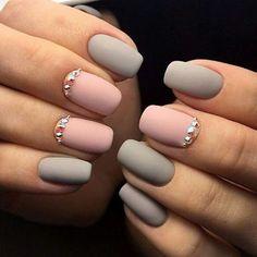 1000+ ideas about Gray Nails on Pinterest   Nails, Grey nail ...
