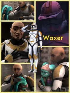 Waxer. One of my favorite troopers. He showed the world that clones are not heartless killers. R.I.P brother. :'(
