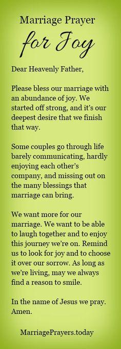 A marriage prayer for joy.