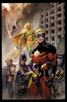 Chaos War: Dead Avengers #1 tom Grummett. The Vision, Doctor Druid, Swordsman, Yellowjacket II, Captain Marvel and Death Cry. :)