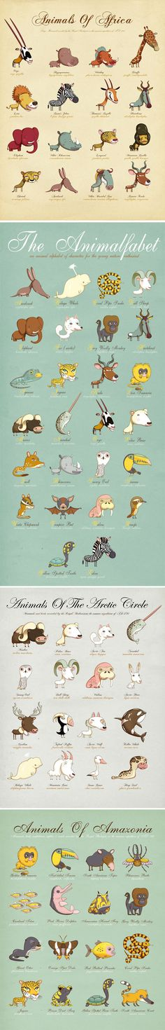 Animals around the world. - Love these for a nursery!