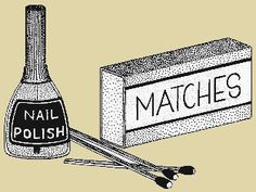 Waterproof matches: Dip matches in nail polish and let dry.