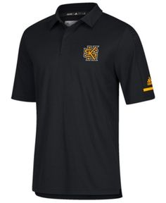 f3589907547 adidas Men s Kennesaw State Owls Team Iconic Coaches Polo - Black 3XL Kennesaw  State