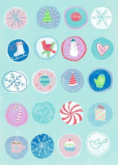 Blue Christmas by hailey parnell, via Flickr. iphone wallpaper