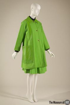 Bonnie Cashin 1907-2000  Retailer: Saks Fifth Avenue American, founded 1924  Manufacturer: Sills and Co. Medium: Green cotton canvas and leather Date: c.1965