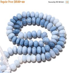 Hey, I found this really awesome Etsy listing at https://www.etsy.com/listing/261360944/on-sale-50-aaa-blue-opal-rondelle-beads
