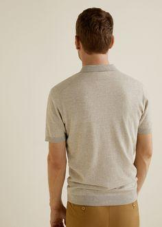 2a5248ab8dc Mango Striped Jersey Polo Shirt - Sky Blue Xl Striped Jersey