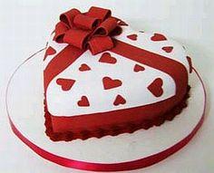 torta corazon - Google Search