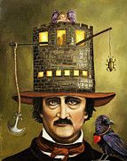 Raven Posters - Edgar Allan Poe Poster by Leah Saulnier The Painting Maniac