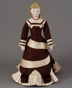 doll clothes 1870 | 1870's daydress