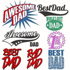 Father's Day designs are perfect for an adolescent or teenage child to show that Dad is still rad. Awesome Dad Starburst, Best Dad, the World's Best Dad Emblem and more to reflect Father's and child's personality. Cuttable Design Cut File. Vector, Clipart, Digital Scrapbooking Download, Available in JPEG, PDF, EPS, DXF and SVG. Works with Cricut, Design Space, Sure Cuts A Lot, Make the Cut!, Inkscape, CorelDraw, Adobe Illustrator, Silhouette Cameo, Brother ScanNCut and other compatible…