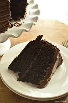 The Best Sour Cream Fudge Cake