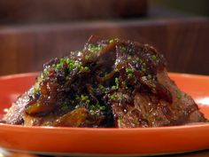 Braised Beef Brisket with Onions, Mushrooms, and Balsamic by anne burell