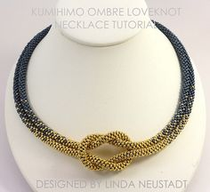 TUTORIAL PATTERN Love Knot Ombre Necklace, PDF Digital File