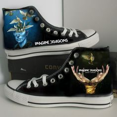 Imagine dragons/Custom/converse/hand painted by SUNFORESTSEA