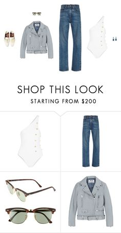 """""""Untitled #2410"""" by amberelb ❤ liked on Polyvore featuring Cushnie Et Ochs, Brock Collection, H&M, Ray-Ban and Acne Studios"""