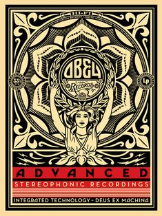 Lotus Woman by Shepard Fairey i have no idea what the music is, but the art is awesome!
