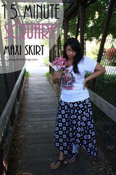 DIY Square Skirt Tutorial #iloverileyblake #raegunramblings #projectdesignteam #aztecfabric #jerseyknit