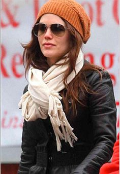 "Love Quotes Rayon/Poly Blend Wrap/Scarf with 4"" Knotted Fringe - as seen on Rachel Bilson"