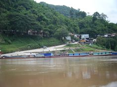 Laos Travel - how to get from Thailand to Laos, Slow boat to laos from Chiang Mai to Luang Prabang on mini bus and slow boat. the 2 day trip here will. 2 Days Trip, Laos Travel, Luang Prabang, Chiang Mai, Thailand, Boat, Dinghy, Boats, Ship