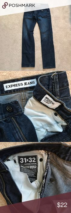 Awesome Express Rocco jeans size 31x32 Express Rocco jeans size 31x32. Good condition. Check out my closet and bundle and save 25%! Express Jeans Skinny