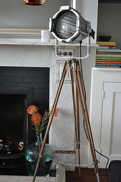 Vintage industrial film light from etcetera.