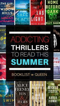 The best new thriller books of summer 2020 are so addicting you'll find yourself glued to the page. These page-turning summer thrillers will keep you up all night. Find the best new psychological thriller books, new domestic thriller and the best mystery books to read this summer. Best Mystery Books, Best Mysteries, Mystery Novels, Murder Mysteries, Cozy Mysteries, Mystery Thriller, Good Thriller Books, Thriller Novels, Best Books To Read