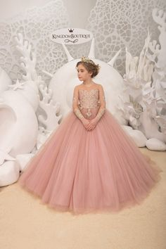 Blush pink and Gold Flower Girl Dress Birthday Wedding Party Holiday Bridesmaid Flower Girl Blush pink and Gold Tulle Lace Dress Flower Girl Dresses Birthday blush Bridesmaid Dress Flower Girl Gold Holiday lace Party Pink Tulle Wedding Little Girl Gowns, Gowns For Girls, Girls Dresses, Pink Dresses, Gold Flower Girl Dresses, Lace Flower Girls, Gold Tulle, Tulle Lace, Pink Tulle