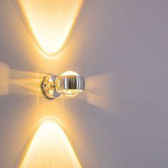 hofstein H392S Balti Aluminium Wandlampe