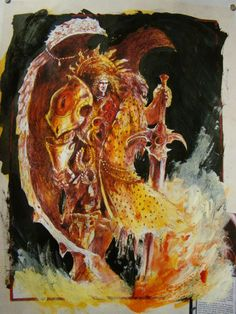 The Art of John Blanche - Sanguinius Primarch of the Blood Angels. #warhammer40000 #john blanche