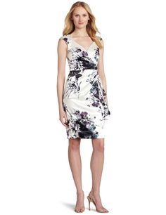 Amazon.com: Maggy London Women's Side Gathering Satin Dress: Clothing