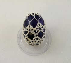Tatting Easter egg by WorldOrnaments on Etsy