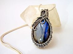 silver pendant, silver wire wrapped, labradorite pendant, heady pendant, labradorite necklace, silver jewelry, silver necklace, gift for her by PSJEWELRYArt on Etsy