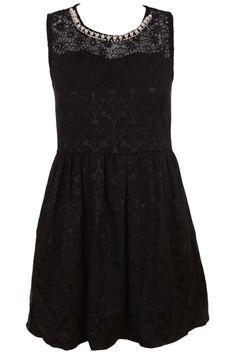 Constrasting Sleeveless Black Dress#Romwe