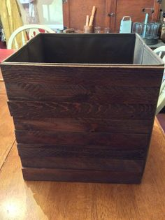 Wood shims glued to front of canvas crates to create new look.