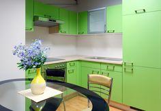 go green - modern kitchen interior