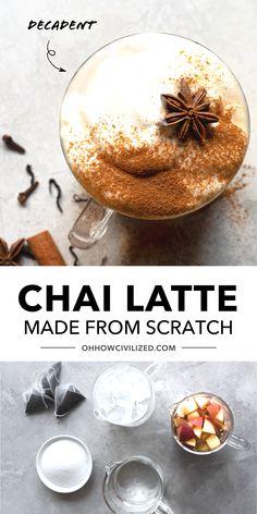 Chai Recipe, Latte Recipe, Masala Chai, Tea Sandwiches, Recipe From Scratch, Tea Recipes, High Tea, Matcha, Afternoon Tea