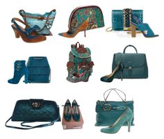 """""""-13- Teal, Bags & Shoes"""" by freida-adams ❤ liked on Polyvore featuring GEDEBE, ShoeDazzle, Burberry, Christian Louboutin, Sakroots, Miu Miu, Manolo Blahnik, Lulu*s, J.Reneé and Gucci"""