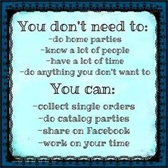 It's your business to manage your way. The $152 is worth it for all you get in the kit, too. Why not give Scentsy a try? www.angiepurdy.scentsy.com.au