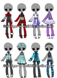 .:Adoptable:. Outfit Batch 12 [4/8] by DevilAdopts.deviantart.com on @DeviantArt